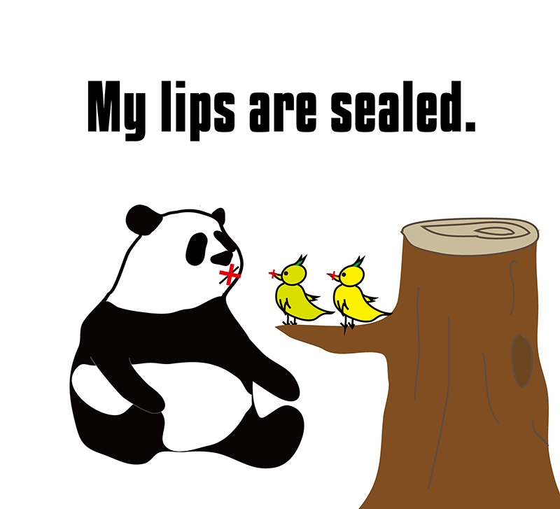 one's lips are sealedのフレーズ