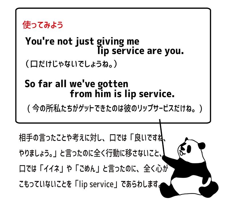 lip serviceの使い方