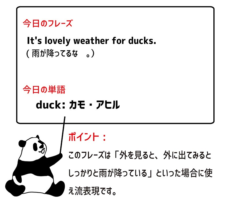 lovely weather for ducksのフレーズ