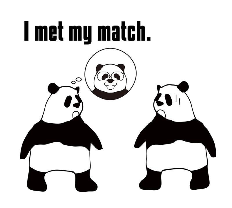 meet matchのパンダの絵
