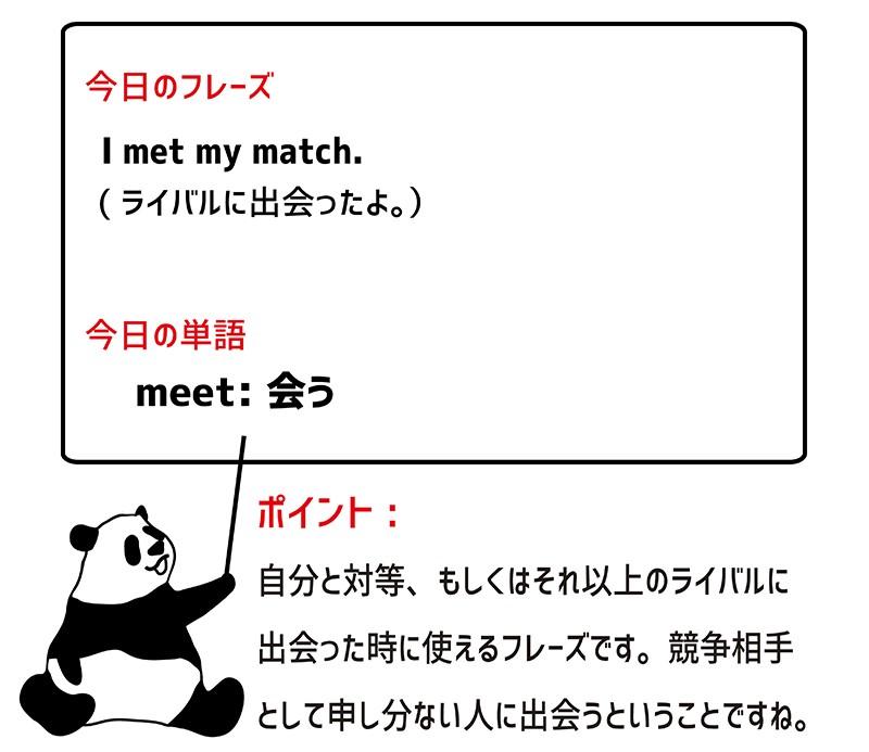 meet matchのフレーズ