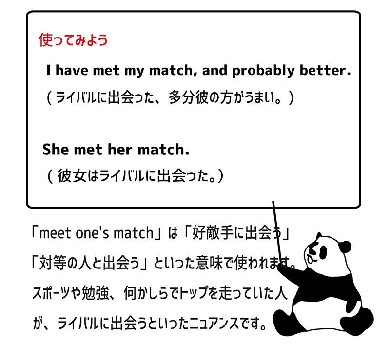 meet matchの使い方