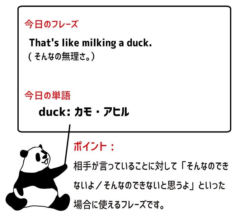 milk a duckのフレーズ