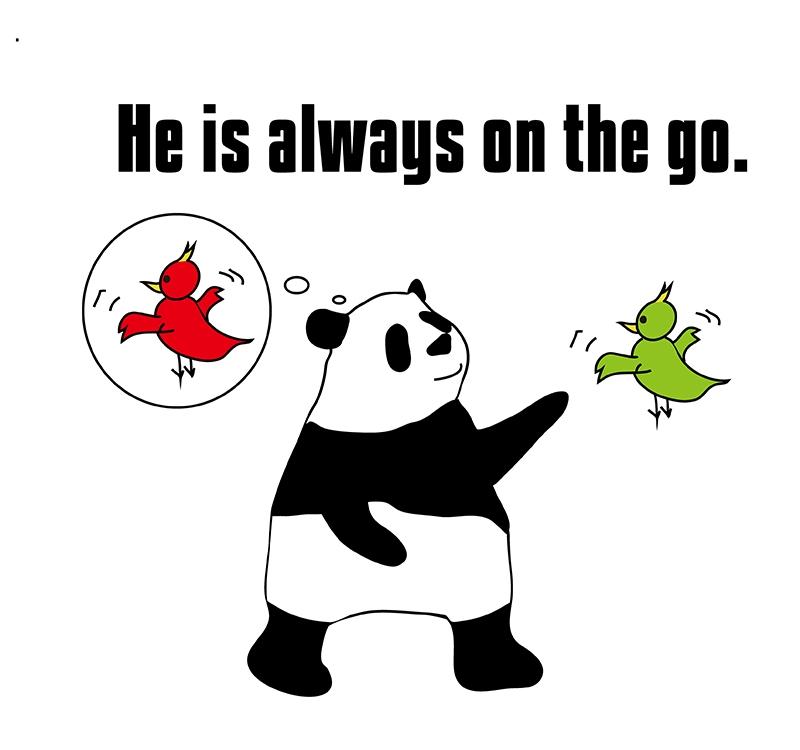 on the go のパンダの絵