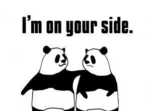 I'm on your side.の絵