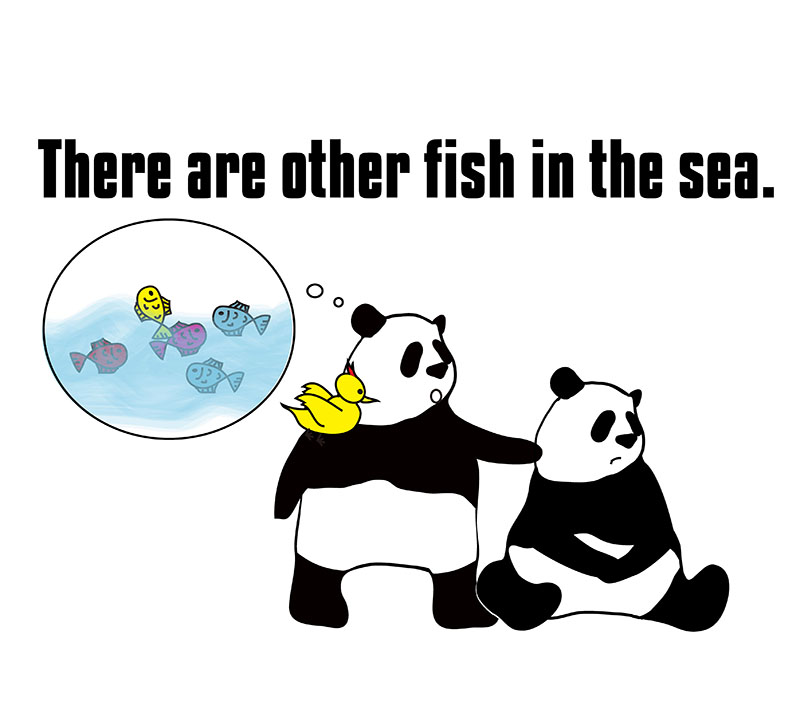 there are other fish in the sea.のパンダの絵