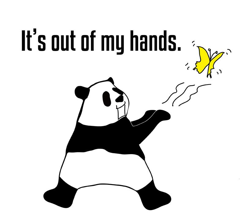 out of handのパンダの絵
