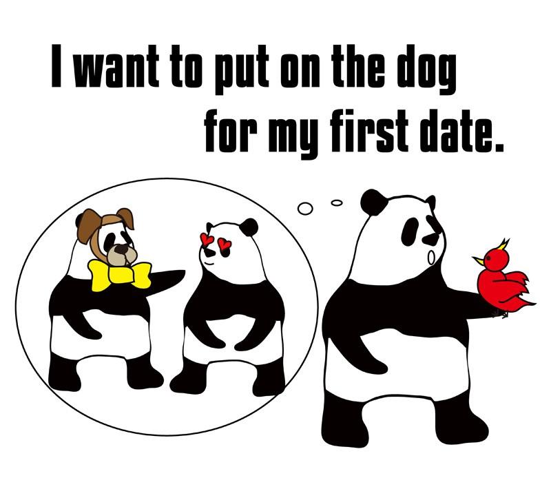 put on the dogのパンダの絵