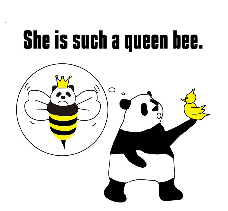 queen beeのパンダの絵