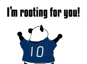 I'm rooting for you!のパンダの絵