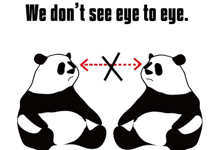 see eye to eyeのパンダの絵