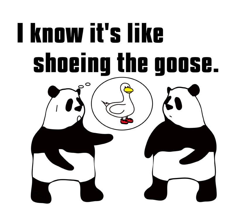 shoethegooseのパンダの絵