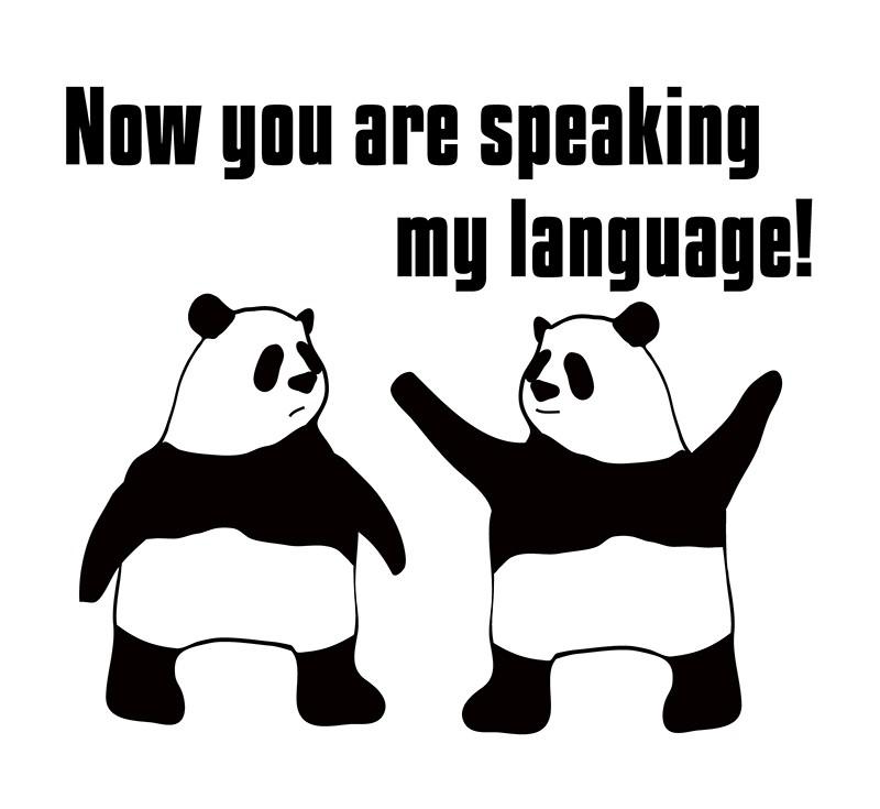 speak one's languageのパンダの絵
