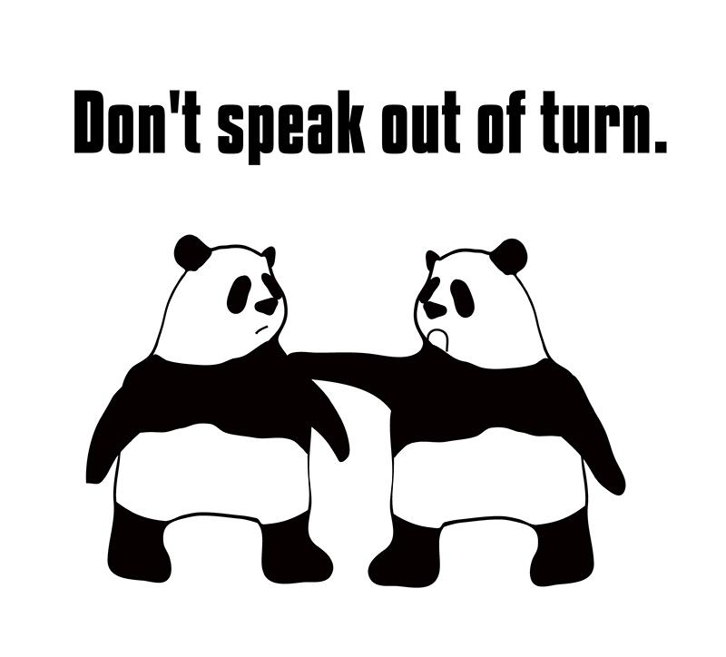 speak out of trunのパンダの絵