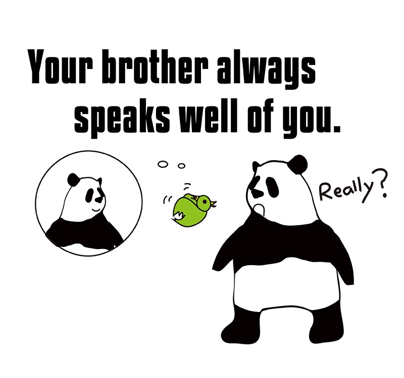 speak well ofのパンダの絵