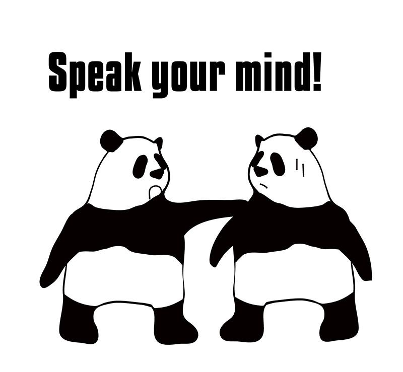 speak one's mindのパンダの絵
