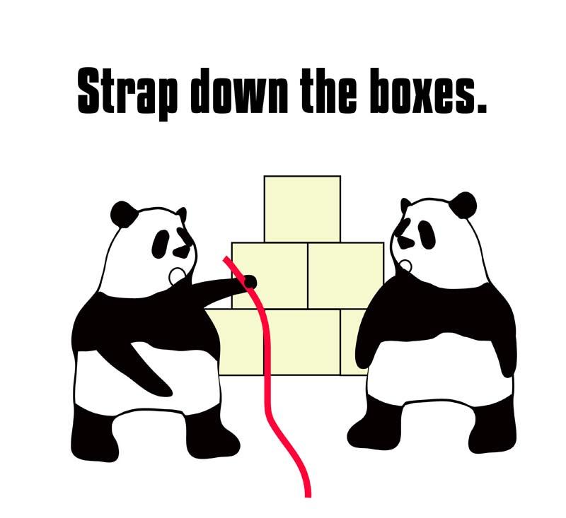 strap downのパンダの絵