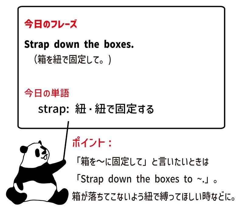strap downのフレーズ