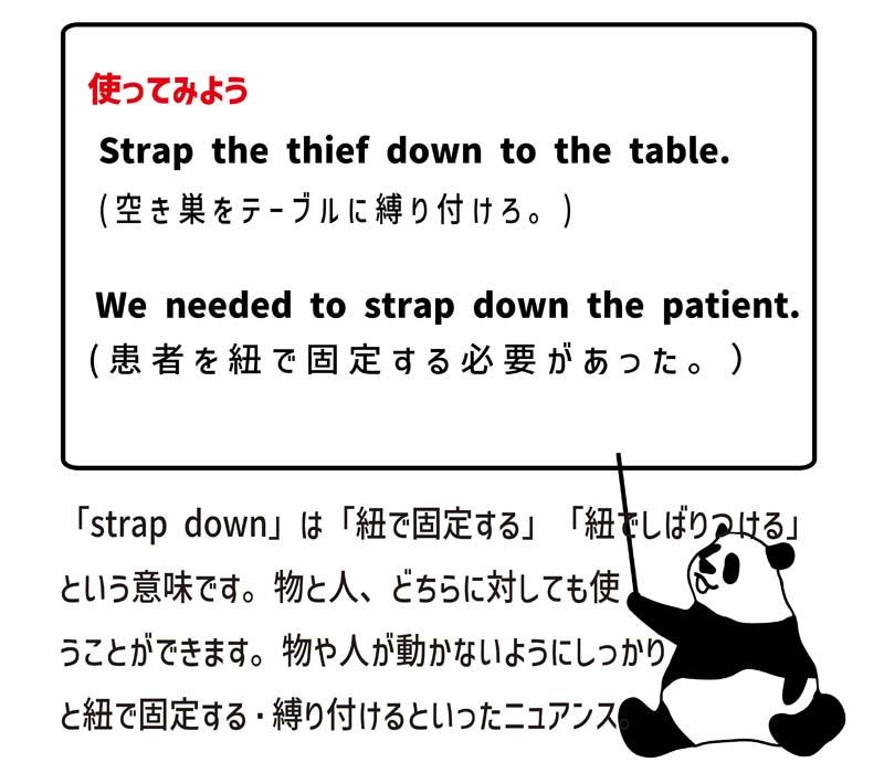 strap downの使い方