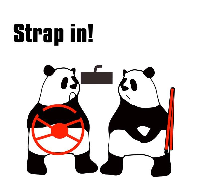 strap inのパンダの絵