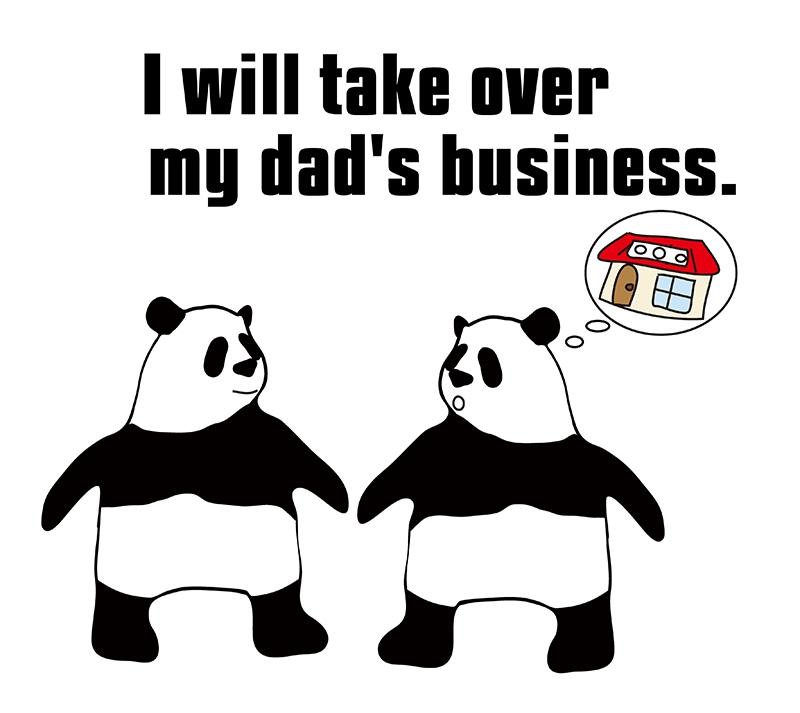 take overのパンダの絵
