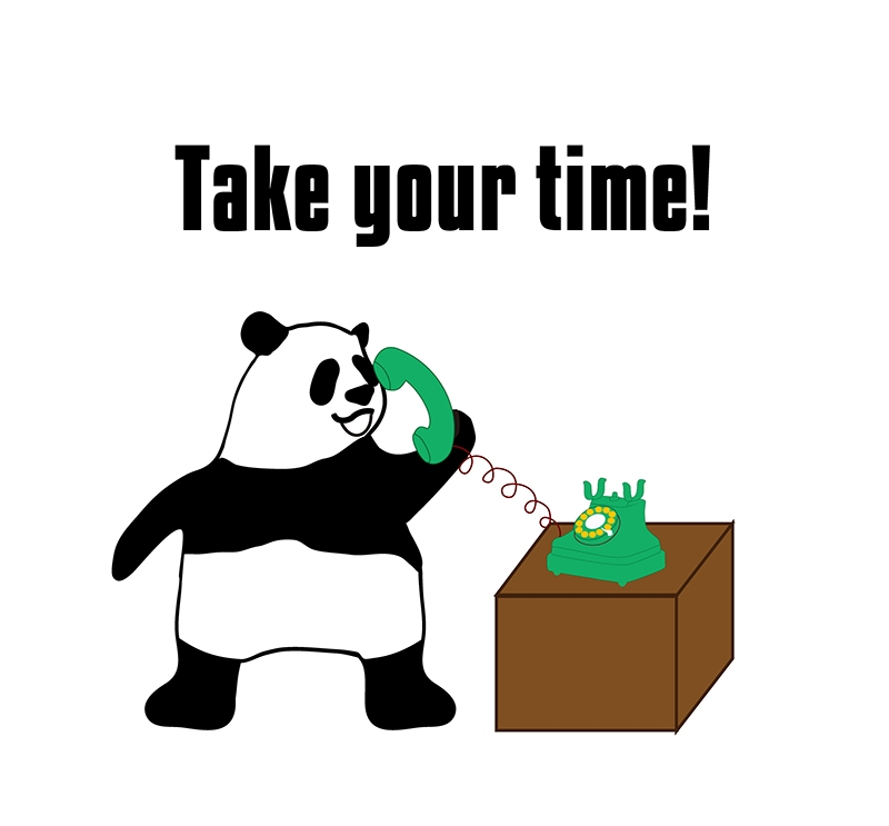 take timeのパンダの絵