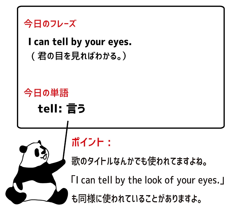 tell byのフレーズ