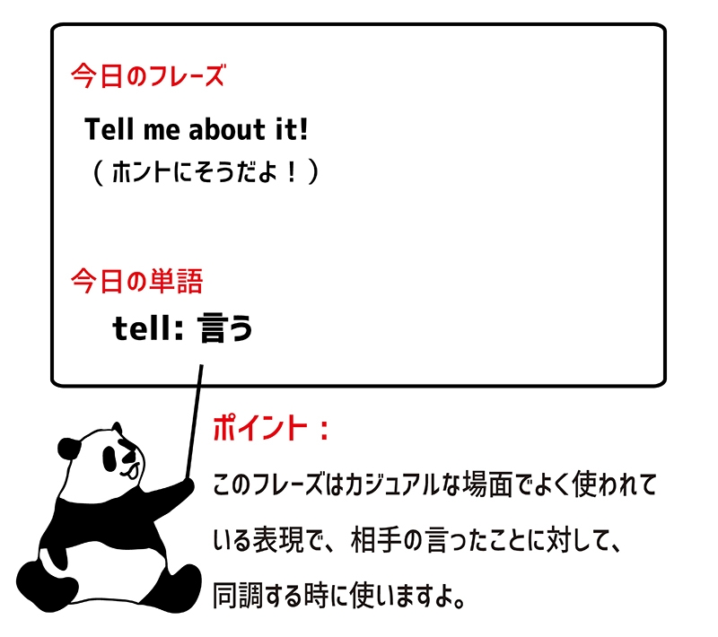 tell me about itのフレーズ