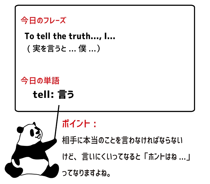 tell the truth のフレーズ