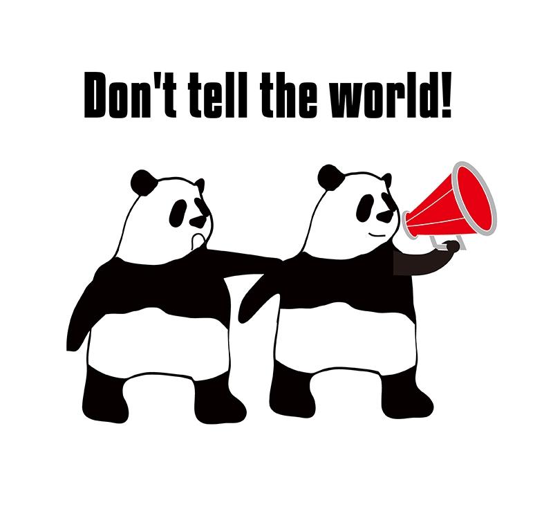tell the worldのパンダの絵