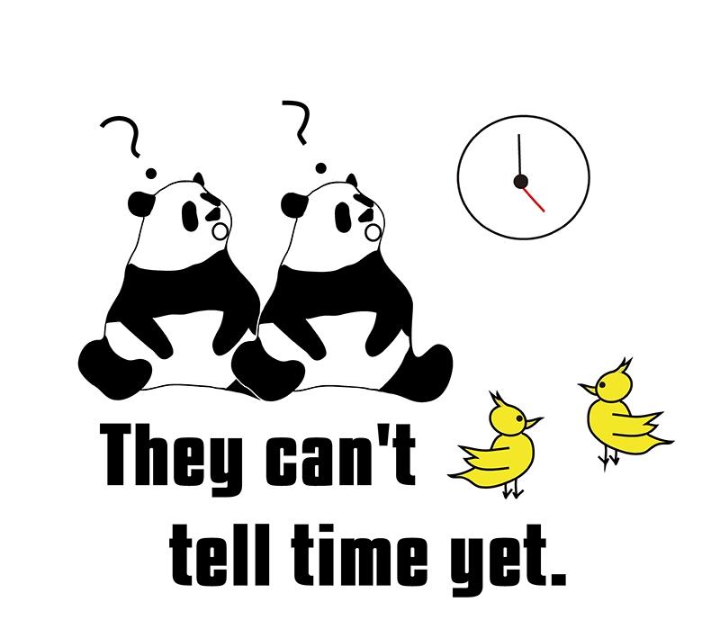 tell time のパンダの絵