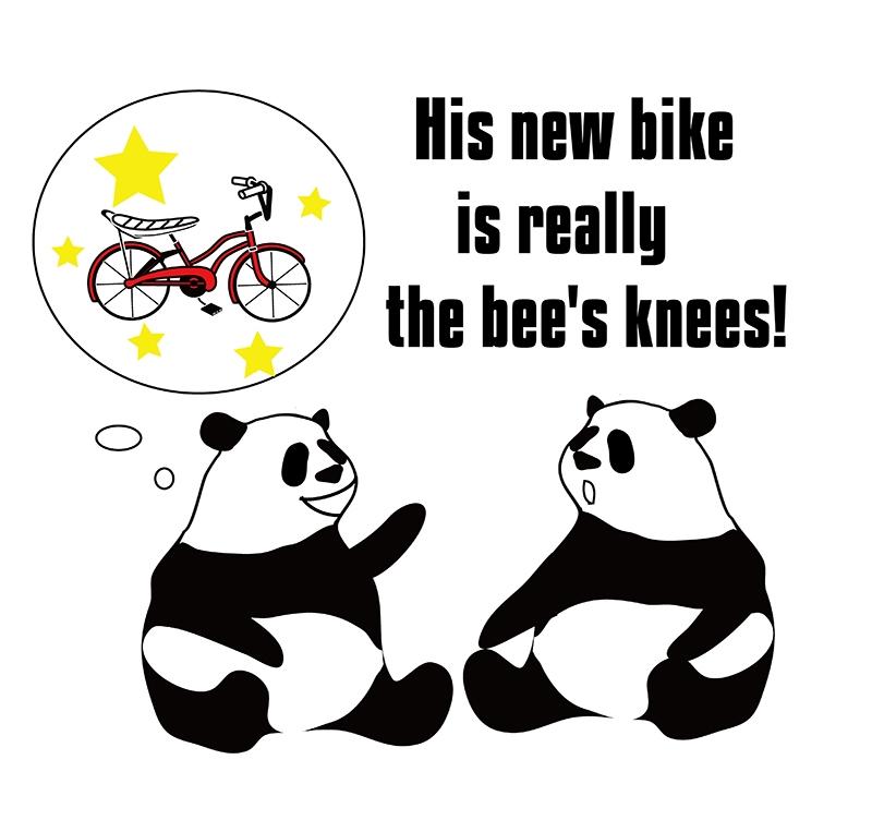 the bee's knees のパンダの絵