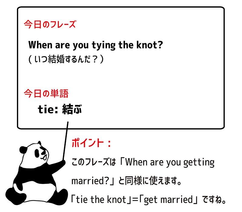 tie the knotのフレーズ