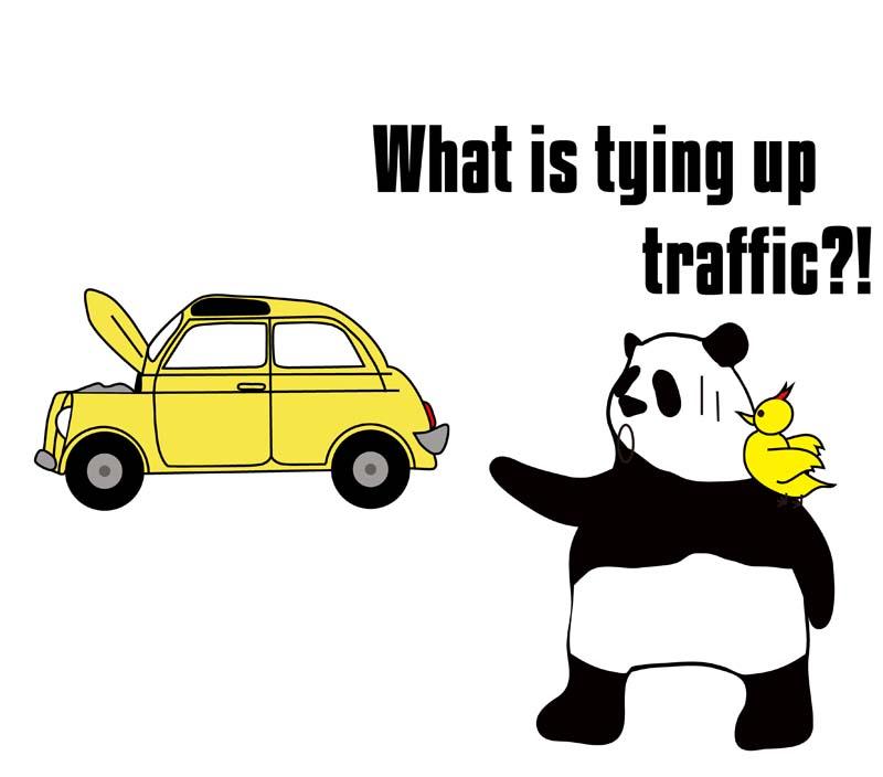 tie up trafficのパンダの絵