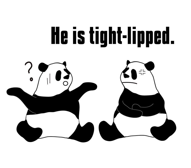 tight lippedのパンダの絵