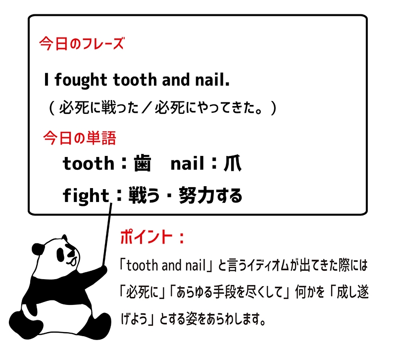 fight tooth and nailのフレーズ