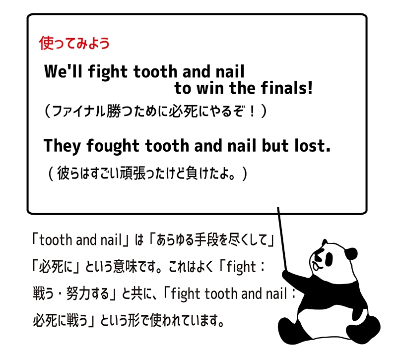 fight tooth and nailの使い方