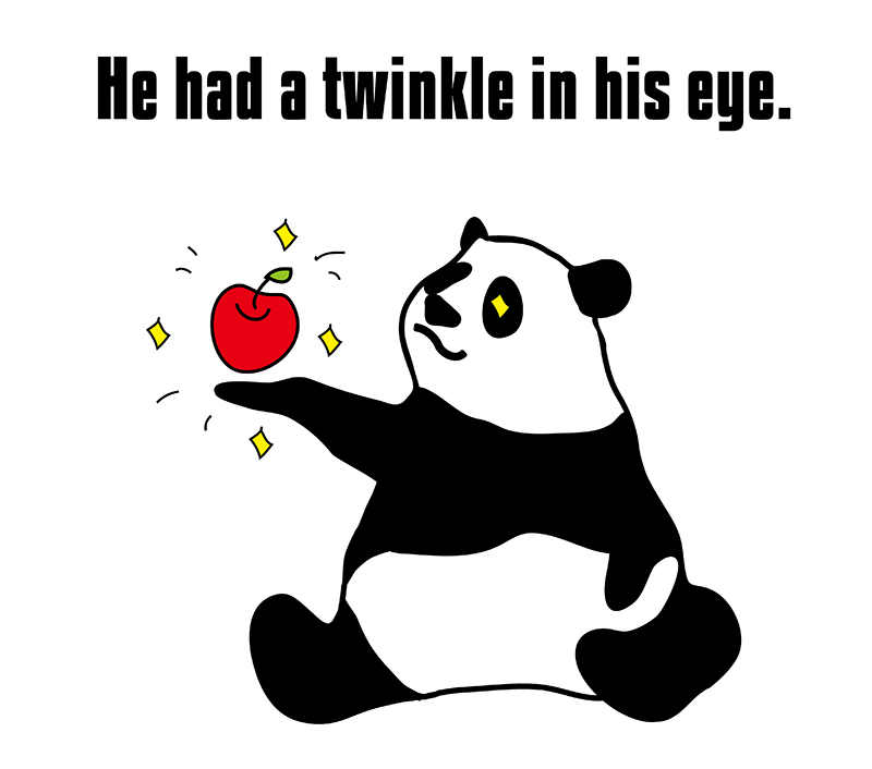 a twinkle in one's eyeのパンダの絵