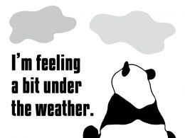 I'm feeling a bit under the weather.のパンダの絵