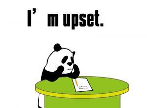 I'm upset.のパンダの絵