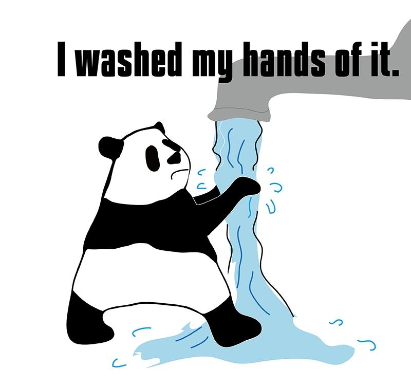 wash my hands ofのパンダの絵