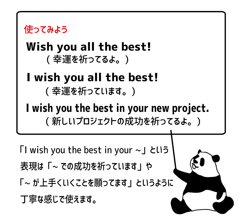 Wish you all the best!の使い方